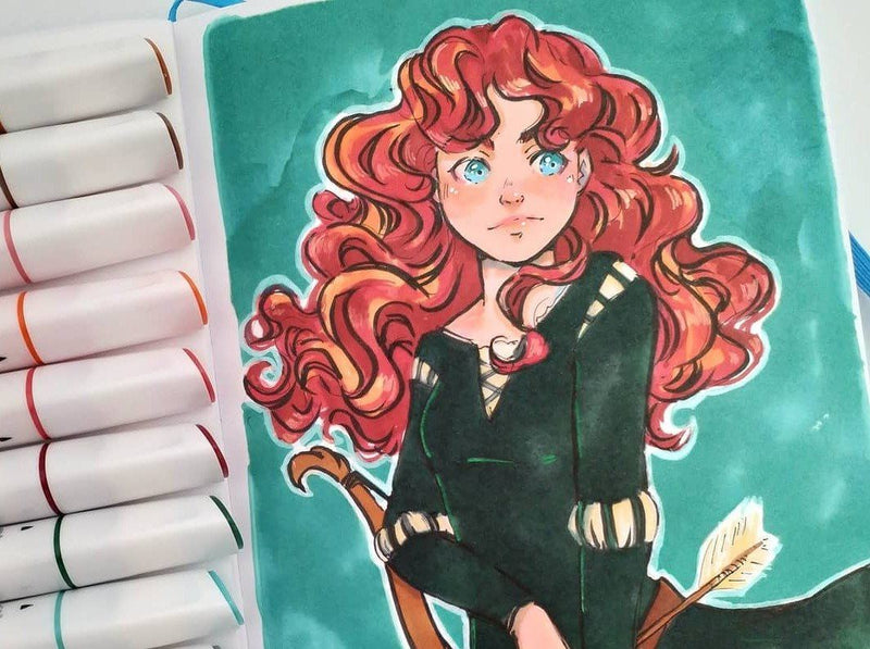 Mixed Media: Fantasy Inspired Female Characters using Markers with Librae Illustration Librae