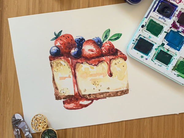 Paint Mouth-Watering Desserts Using Watercolors Illustration Class101