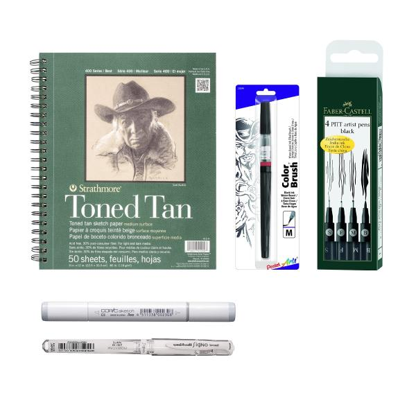 Sketching Animals and Creatures with Pen and Ink Illustration Sorie Kim All in one package (Class Kit + Access)
