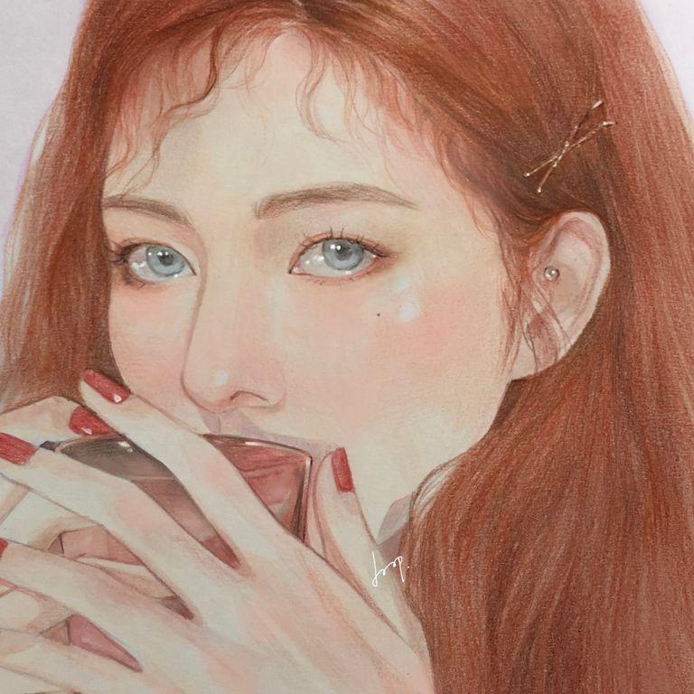 Soft and Sensual Colors That Fill the Page: Doop's Colored Portraits Illustration 둡 2차