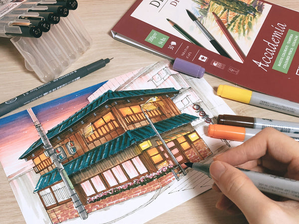 Travel & Lifestyle Illustrations - Learn Marker & Pen Drawing Illustration 리니 2차 Class Access Only