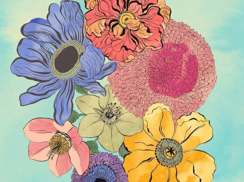 Watercolour Floral Illustration from Sketching to Digital Prints Illustration Hadas Hayun
