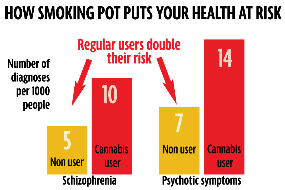 cannabis users risk exposure to schizophrenia and psychosis