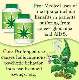 pros and cons of marijuana