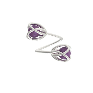 Flora Double Ring <br> Amethyst