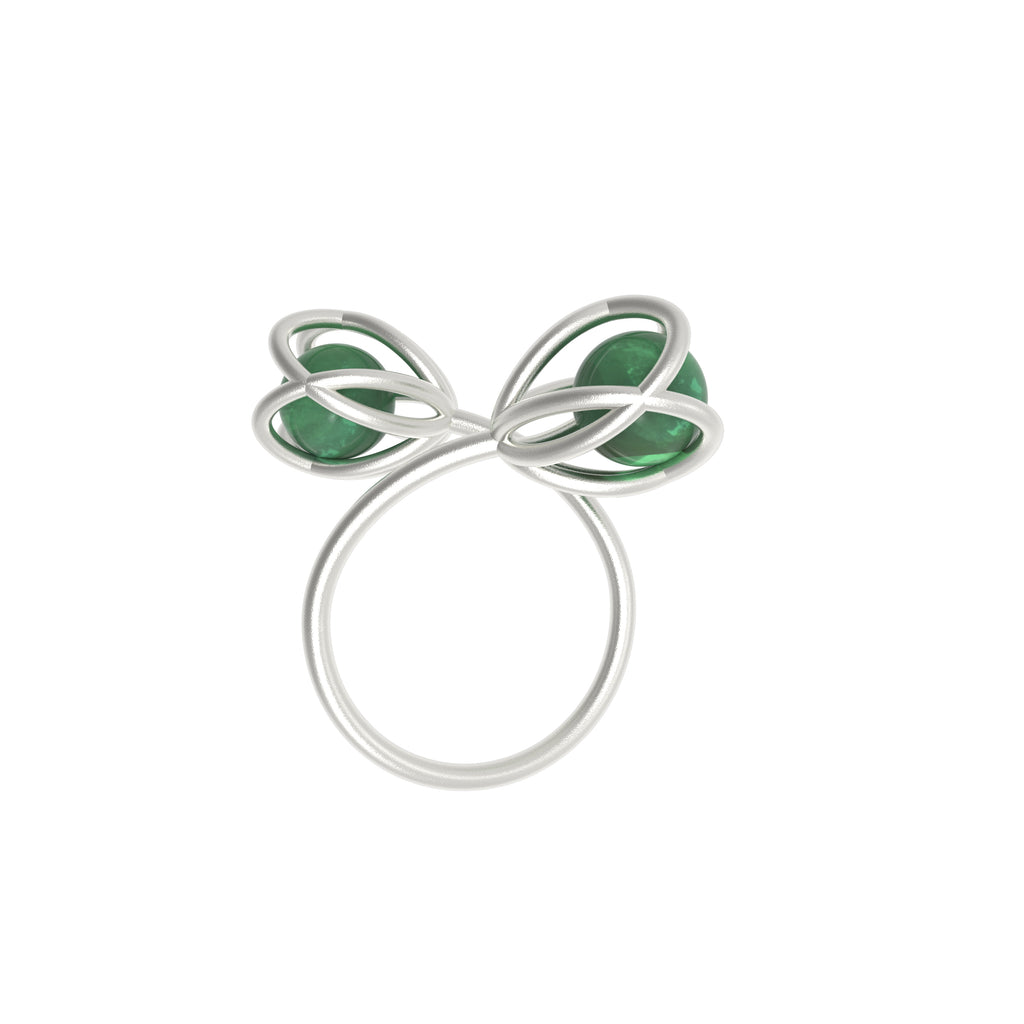 Flora Double Ring - Green Aventurine