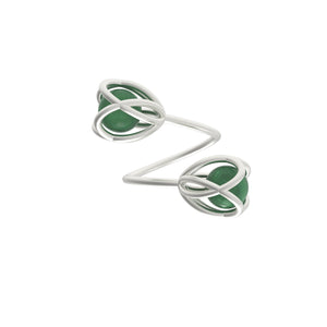 Flora Double Ring <br> Green Aventurine