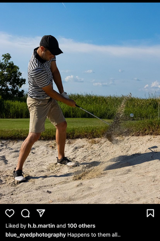 guy chipping a golf ball from a sand trap