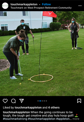 example of a hula hoop golf chipping drill