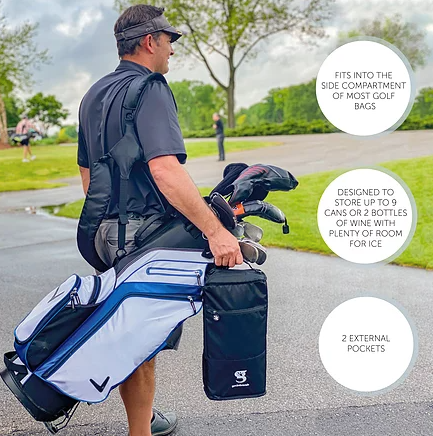 a man using the Gecko Verticooler while golfing