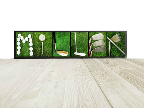 golf family wood sign