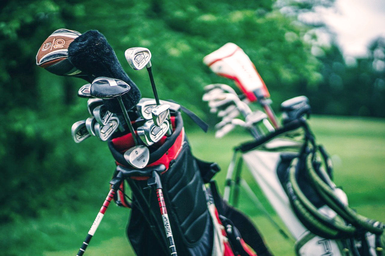 Fourteen clubs inside golf bag