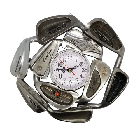 Golf Clock From Vintage Recycled Irons