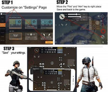 Load image into Gallery viewer, PUBG Metal Mobile Game Trigger Controller L1 & R1 Sensitive Touch