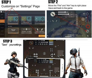 PUBG Metal Mobile Game Trigger Controller L1 & R1 Sensitive Touch