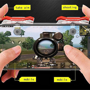 PUBG Mobile Game Controller Shoot/aim Red Buttons