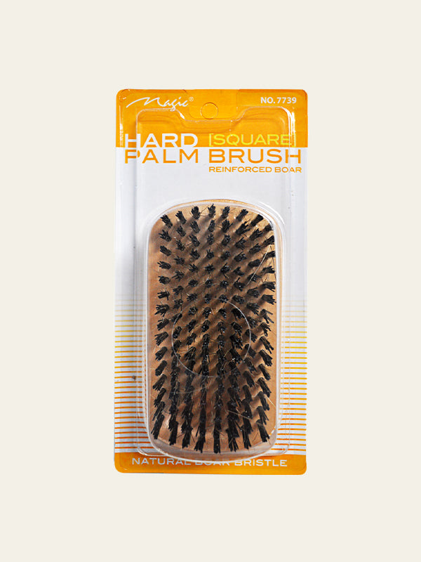 Hard Boar Bristle Palm Brush with Reinforced Boar