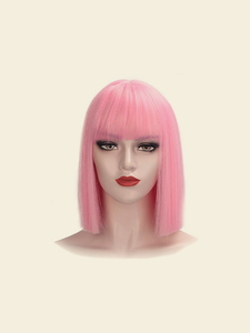 "A for Afro – Noelle 12"" Synthetic Hair Bob Wig #Cotton Candy"