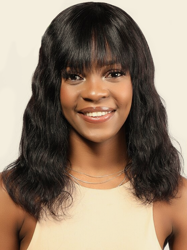 A for Afro – Serena Human Hair Body Wave Wig #Natural