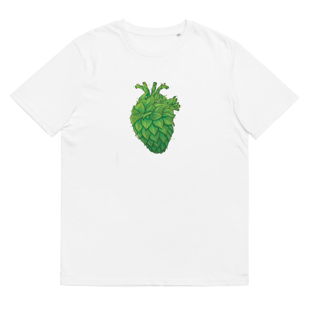 Hop Heart organic cotton t-shirt (white)