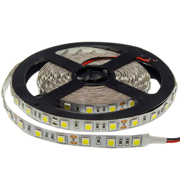 5 Meter LED Strip 5050 Non-Waterproof  14.4W/m White light 6000K