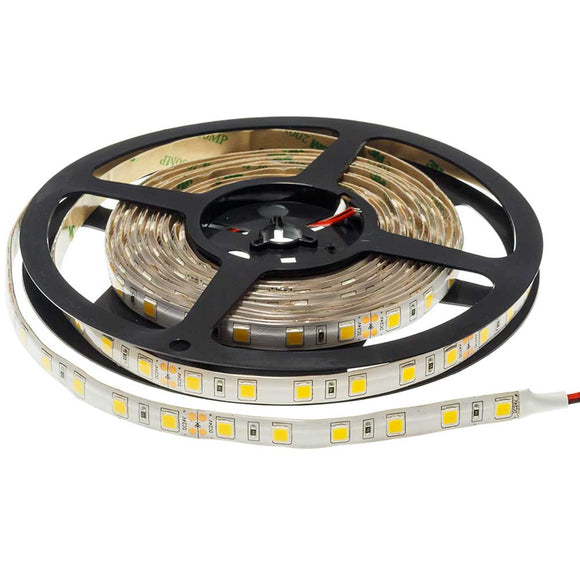 5 Meter LED Strip 5050 24v Waterproof  14.4W/m Warm white 2700K