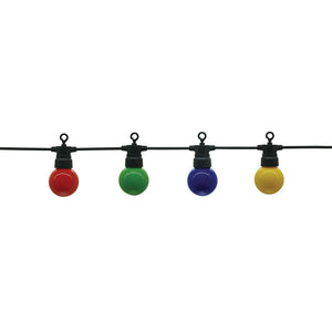 White Outdoor String Light colourful Bulbs 10pc 3W