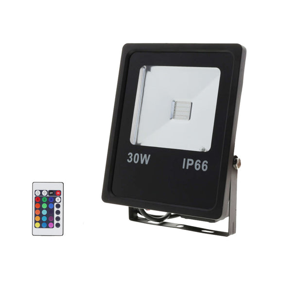 LED RGB Floodlight With Remote Control 30W RGB