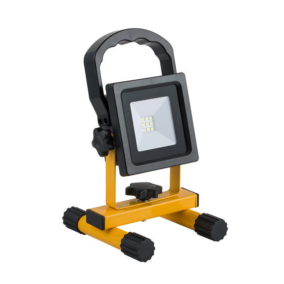 LED SMD Portable Rechargeable Floodlight 600Lm IP44 10W White light 6000K