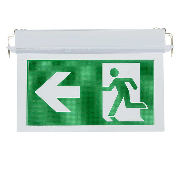 LED Recessed Fixed Emergency Exit Light 3 Hours Duration With PVC Legend 2w