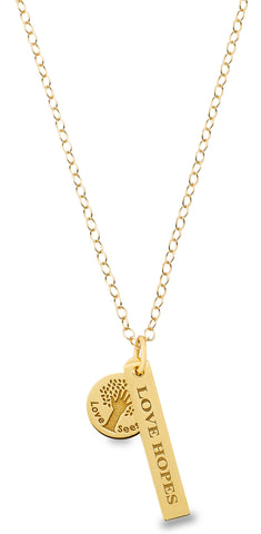 Love Hopes 18 kt Gold Vermeil Necklace