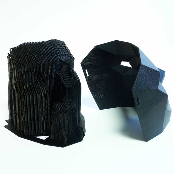 Masque polygone / raft et supports en PLA