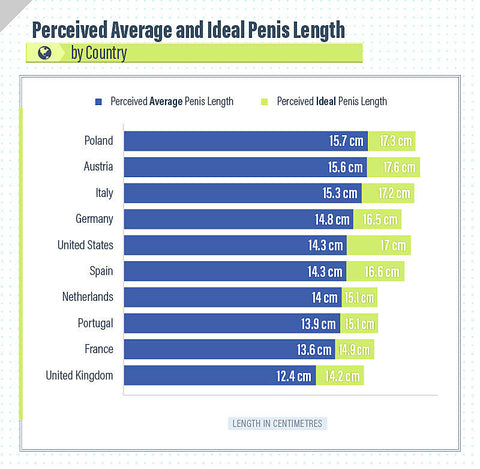Average penis size by country