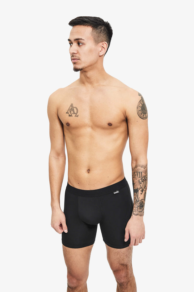 Nooks Boxer Briefs Midnight Black Front