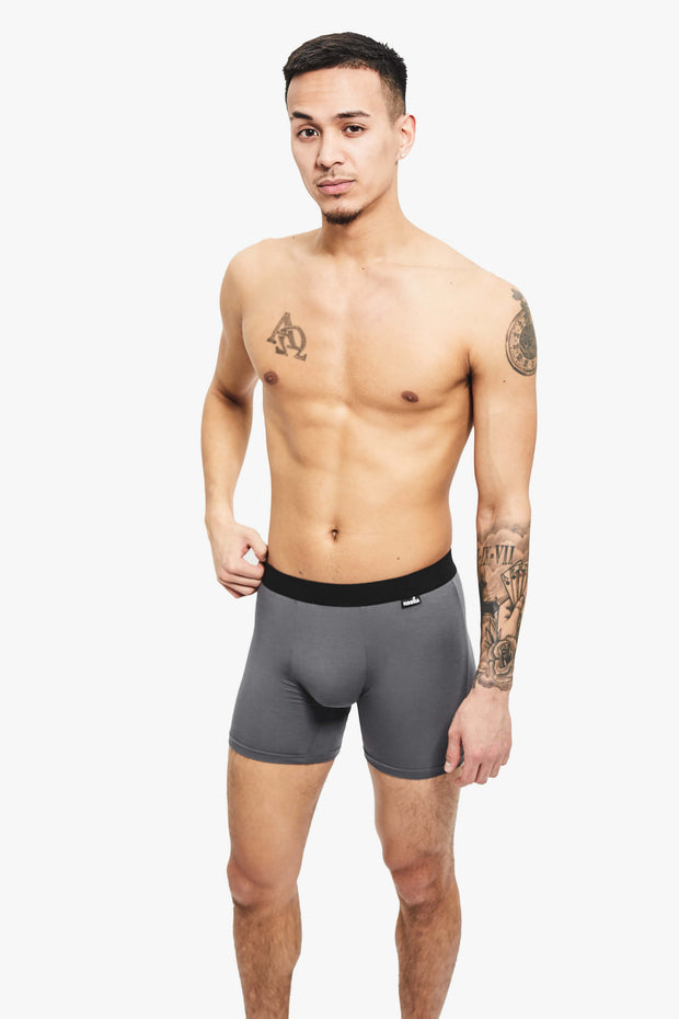 Nooks Boxer Briefs Space Gray Front