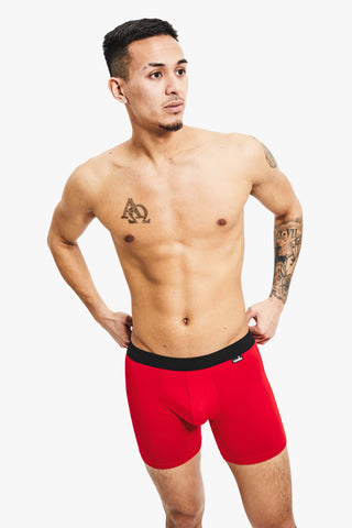 Nooks Boxer Briefs Firecracker Red Front 4 Pack