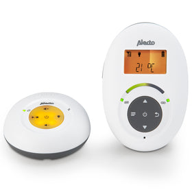Alecto DBX-125 - Full Eco DECT babyfoon met display, wit/antraciet
