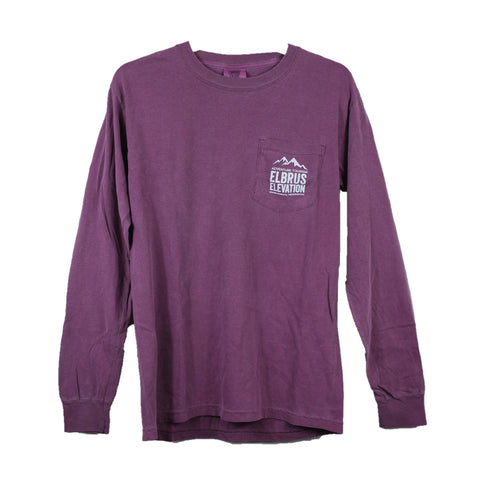 Logo, Pocket, Long-sleeve berry (front)