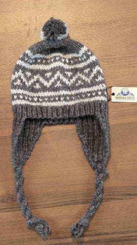 Wool Hat with Tassels