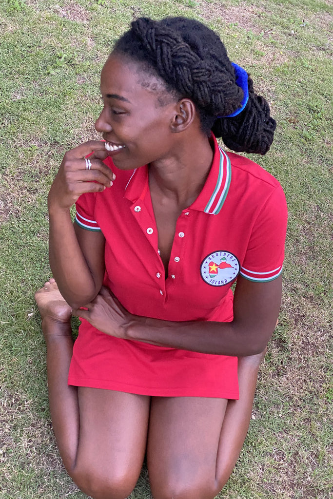 Robe Polo Guadeloupe Rouge