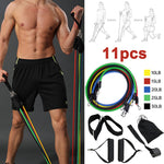 11pcs/set Resistance Bands Sport Fitness Rubber Tubes Bands Yoga Exercise Stretch Training Home Gyms Elastic Pull Strap US Spain