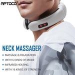 Aptoco Electric Pulse Back and Neck Massager Far Infrared Heating Pain Relief Health Care Relaxation Tool Unisex