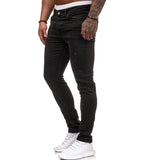 Black Jeans Men Classic Men's Slim Pencil Pants 2020 New Stylish Mens Skinny Elastic Jeans Mid Waist Denim Trouser for Male D25