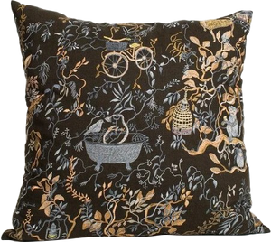 Wonderland Midnight Pillow