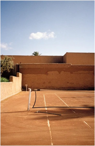 Marrakech Tennis Court Morocco' Film Print