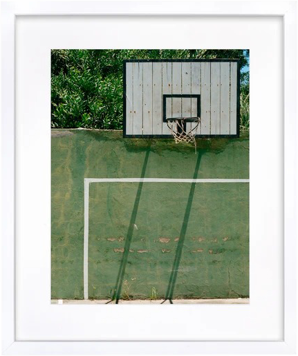 Backyard Basketball - Manantiales, Uruguay' Framed Art