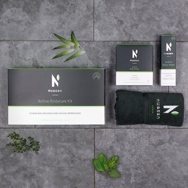 The Nuasan Active Bodycare Kit, the ideal gift for active men and women this Christmas