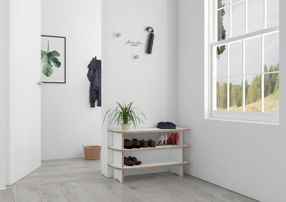 Anga-furniture, shelves, shoe, shoe rack, shoe storage, wood-formbar.co.za