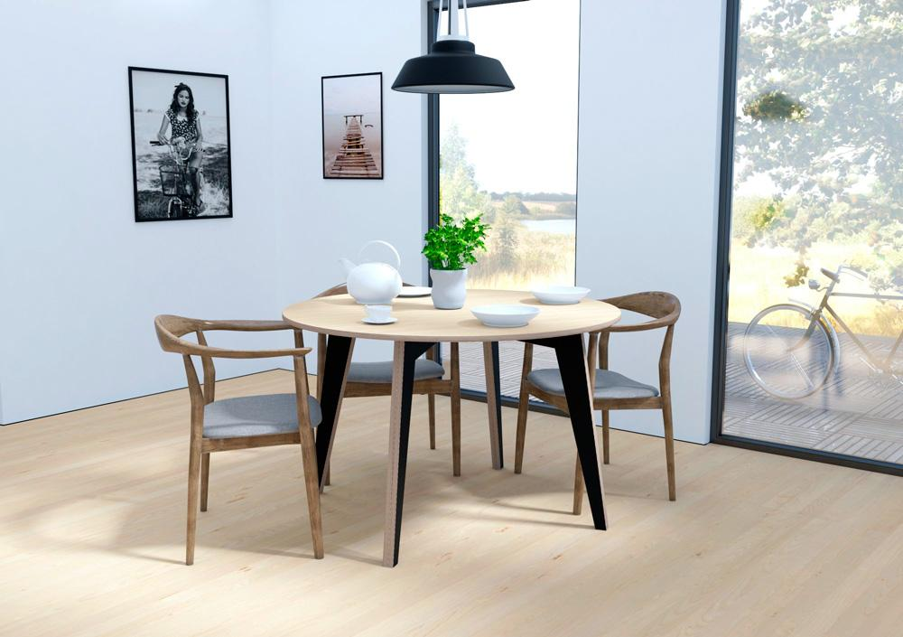 Arthus-dining room furniture, dining table, round, table, wood-formbar.co.za