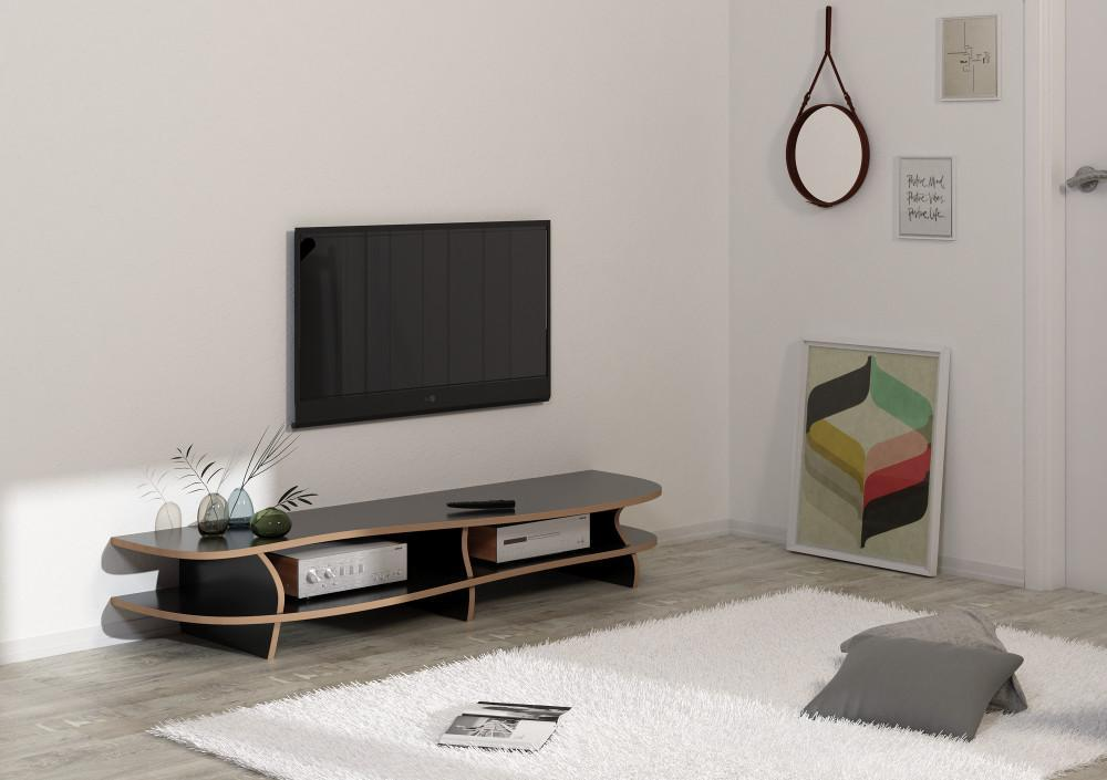 Black Carpet-living room, shelves, TV cabinet, TV stand, wood-formbar.co.za